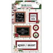 Joyful Christmas Adhesive Layered Chipboard - Bo Bunny