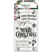 Joyful Christmas Clear Stamps - Bo Bunny - PRE ORDER