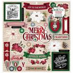 "Joyful Christmas 12""X12"" Chipboard Stickers - Bo Bunny - PRE ORDER"