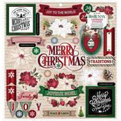 "Joyful Christmas 12""X12"" Chipboard Stickers - Bo Bunny - PRE ORDER"