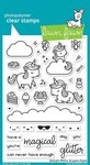 Unicorn Picnic Clear Stamps - Lawn Fawn