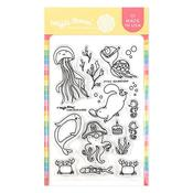 Sea Birthday Stamp Set - Waffle Flower Crafts - PRE ORDER