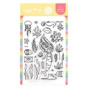 Mermaid Mail Stamp Set - Waffle Flower Crafts - PRE ORDER