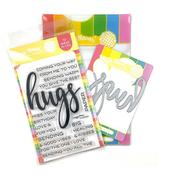 Oversized Hugs Stamp & Die Set - Waffle Flower Crafts - PRE ORDER