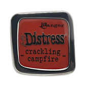Crackling Campfire Enamel Collector Pin - Tim Holtz