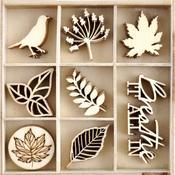 Fallen Leaves Wood Embellishments - KaiserCraft - PRE ORDER
