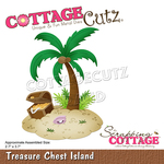Treasure Chest Island Dies 2.7 x 3.7 - CottageCutz - PRE ORDER