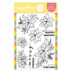 Poinsettia Clear Stamps 5 x 7 - Waffle Flower Crafts - PRE ORDER