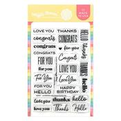 Classic Sentiments Clear Stamps 4 x 6 - Waffle Flower Crafts