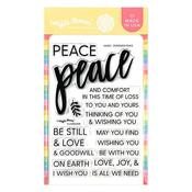 Oversized Peace Clear Stamps 4 x 6 - Waffle Flower Crafts