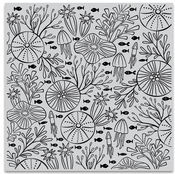 Underwater Pattern Bold Prints Cling Stamps - Hero Arts