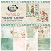 Vintage Artistry Shore 12 x 12 Paper Pack - 49 And Market