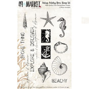Vintage Artistry Shore Clear Stamps - 49 And Market