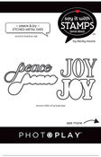 Peace/Joy Die Set - Say It With Stamps - Photoplay - PRE ORDER