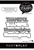 Thankful/Thanksgiving Die Set - Say It With Stamps - Photoplay - PRE ORDER