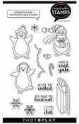 Penguins At Play Photopolymer Stamp - Say It With Stamps - Photoplay - PRE ORDER