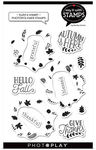 Fall Build A Wreath Photopolymer Stamp - Say It With Stamps - Photoplay - PRE ORDER