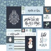 4X6 Journaling Cards Paper - Winter Market - Carta Bella