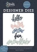 Hello Winter Word Die Set - Carta Bella