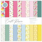 Bright Blooms 12x12 Paper Pad - The Essential Craft Papers - Craft Consortium