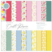 Bright Blooms 12x12 Paper Pad - The Essential Craft Papers - Craft Consortium
