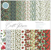 Festive Flora 12x12 Paper Pad - The Essential Craft Papers - Craft Consortium