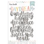 Daydream Die Cut Titles - Cocoa Vanilla Studio
