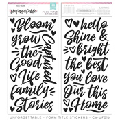 Foam Title Stickers - Unforgettable - Cocoa Vanilla Studio - PRE ORDER