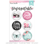 Unforgettable Flair Buttons - Cocoa Vanilla Studio