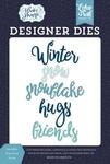 Snowflake Hugs Word Die Set - Echo Park
