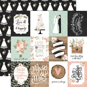 3X4 Journaling Cards Paper - Our Wedding - Echo Park