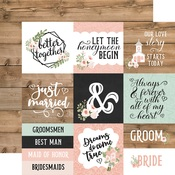 4X4 Jouraling Cards Paper - Our Wedding - Echo Park