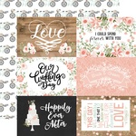4X6 Journaling Cards Paper - Our Wedding - Echo Park