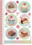 Round Mini Cakes - Sweety Rice Paper Sheet A4 - Stamperia