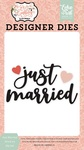 Just Married Word #2 Die Set - Echo Park - PRE ORDER