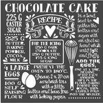 Chocolate Cake Sweety Stencil 7.08 x 7.08 - Stamperia