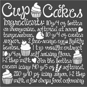 Cupcake Sweety Stencil 7.08 x 7.08 - Stamperia