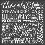 Chocolat Sweety Stencil 7.08 x 7.08 - Stamperia