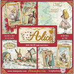 Alice 12x12 Paper Pack With Foiled Accents - Stamperia - PRE ORDER