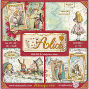 Alice 12x12 Paper Pack With Foiled Accents - Stamperia