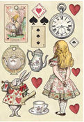 Alice Wooden Shapes A5 - Stamperia - PRE ORDER