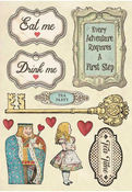 Drink Me - Alice Wooden Shapes A5 - Stamperia - PRE ORDER