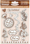Alice Cling Rubber Stamp 5.5 x 7 - Stamperia - PRE ORDER