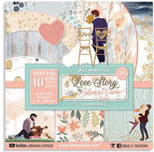 Love Story Paper Pad 8 x 8 - Stamperia - PRE ORDER
