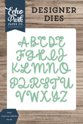 Sadie Uppercase Alphabet Die Set - Designer Dies - Echo Park