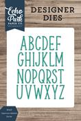 Mckell Uppercase Alphabet Die Set - Designer Dies - Echo Park