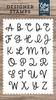 Sadie Uppercase Alphabet Stamp Set - Designer Stamps - Echo Park