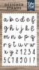 Sadie Lowercase Alphabet Stamp Set - Designer Stamps - Echo Park
