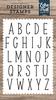 Mckell Uppercase Alphabet Stamp Set - Designer Stamps - Echo Park