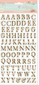 Love Story Alphabet Adhesive Chipboard 6 x 12 - Stamperia